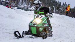 Arttu Laurikkala on nuori lupaava snowcrossaaja. Kuva: Pekka Raiski.