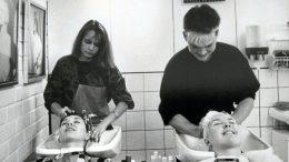 Marita ja Ari Ollikainen ensimmäisessä yhteisessä työpaikassaan vuonna 1986 Salon PP Kaukovainiolla, josta heidän yhteinen historiansa alkoi. (Kuva: Hiukselan kotialbumi)