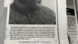 Salme Niemen isä Yrjö Ruikka vietti viimeiset aikansa Päivärinteen keuhkotautiparantolassa Muhoksella 1980-luvun lopulla. Tuolloin hänen elämäntarinastaan oli juttu paikallislehti Tervareitissä.