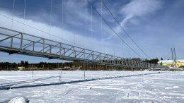 Jakkukylän riippusillan rakentaminen aloitettiin marraskuussa. (Kuva: Hannu Kaisto)