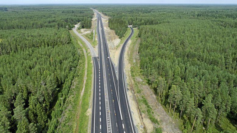 Tientekijöiden laatima havainnekuva moottoritiestä välillä Kello-Räinänperä.