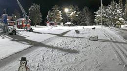 Illinsaaressa on ainakin tammikuun ajan maanantai-iltaisin kello 17–20 Iin Hiihtoseuran järjestämä taitorata, joka on kaikkien hiihtäjien vapaasti käytettävissä. (Kuva: Iin Hiihtoseura)