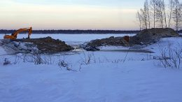 Praavan sataman laajennustyöt aloitettiin viime viikon maanantaina. (Kuva: Seppo Paakkola)