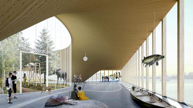 Erä- ja luontokulttuurimuseo tulee olemaan Suomen kymmenen suurimman museon joukossa. Nyt museolle etsitään sijaintipaikkaa, ja kiinnostus on ollut poikkeuksellista. (Pentagon Design Oy)