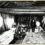 Ylikiimingin Aittokosken saha, vuosi 1910. Kuva: Museovirasto, Historian kuvakokoelma Kimy-Kustannus Oy:n kokoelma.