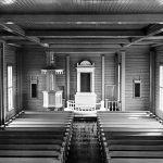 Yli-Iin kirkon sisätiloja todennäköisesti vuonna 1932. Kuva: Museovirasto, JOKA Journalistinen kuva-arkisto Kaleva.