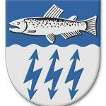 Muhoksen kunnan vaakunan suunnitteli Olof Eriksson.