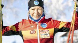 Riitta-Liisa Roponen hiihtää tänään MM-ladulla. Kuva: Heidi Lehikoinen.