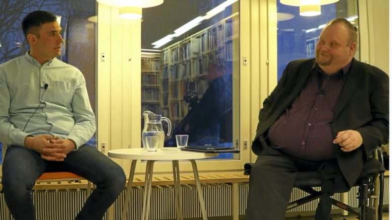 Kokoomuksen kunnallisjärjestön puheenjohtaja Jussi Kurttila ja keskustan kunnallisjärjestön puheenjohtaja Reijo Kehus olivat haastateltavana keskiviikkona. KUVA: Kuvankaappaus livelähetyksestä