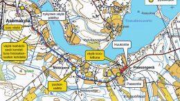 Alustavassa suunnitelmassa kevyen liikenteen väylä päättyy Huukontielle Paasonperällä.