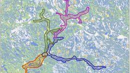 Yli-Iin valokuidun alustava hankealue näkyy tässä Cinian kartassa. Yli-Iin keskusta on merkitty mustalla alueen keskiosaan. Hankealue varmistuu sen mukaan, mistä tilauksia tulee. Tietoliikenteen kasvuvauhti on Suomessa jopa 50 prosenttia vuositasolla, vaikka ihminen ei käyttäisi tietokonetta, tulee hän lähitulevaisuudessa tarvitsemaan nettiyhteyttä muun muassa pitääkseen yhteyttä lääkäriin ja hoitaakseen useita muita tärkeitä asioita.