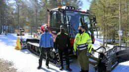 Seppo Illikainen, Jouko Koskinen ja Lauri Suorsa ovat pitäneet Virpiniemen alueen ladut kunnossa jo useamman vuosikymmenen ja taanneet alueen hiihtäjille hienot puitteet lajin harrastamiseen.