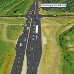 Tältä näyttää Ylikiimingintien liittymä Kuusamontiellä Sitowisen tekemissä suunnitelmissa. Ylikiimingintien alitse kulkisi kevyen liikenteen alikulku.